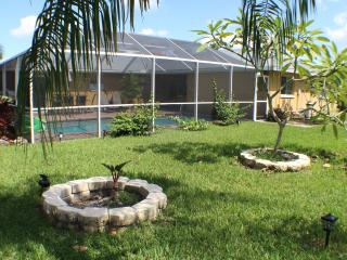 2 Master Suites with Fenced Yard and Pool Home, Cape Coral
