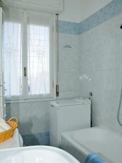 bagno con doccia in vasca