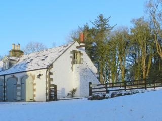 Stables Cottage in the snow