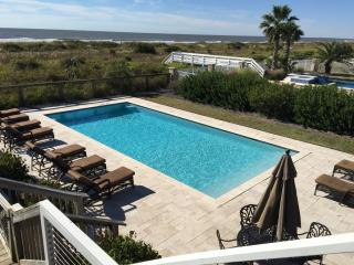 Oceanfront Home with Pool, Sun-room, Large Deck and Private Beach Access!