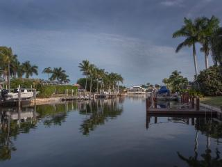 478 Persian Ct. Marco Island, Florida. Looking from dock up the canal.