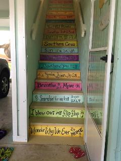 stairs from carport to unit