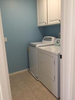 3rd floor laundry room with washer and dryer