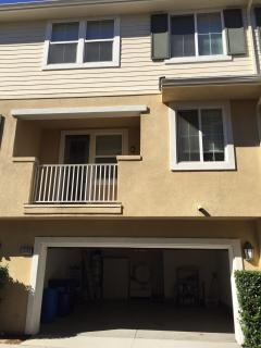 3 floor townhome from garage view