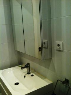Shower room for master bedroom and twin