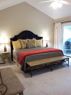 Very large master bedroom.  KIng bed.