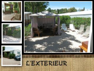 Mobilhome 4/6 pers camping 4 * calme et ombrage