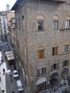The Black Eagle Hotel where W.A.Mozart stayed during his first Italian Grand Tour seen from home