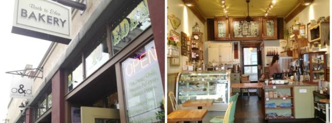 Gluten-Free, Vegan Back to Eden Bakery has wonderful sweet & savory treats. 1/2 block away
