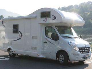 Rimor motorhome rental for families or couples.