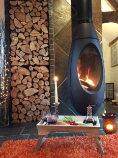 Enjoy a real fire with our log burner and supply of logs