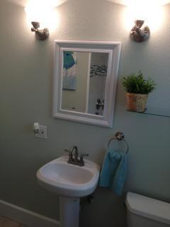 Updated bathroom.