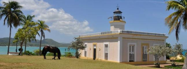 The studio shares the point with the Vieques Lighthouse.