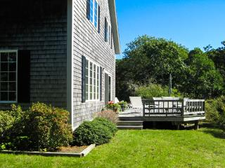 BRACJ - Katama Area  Home,  Bike or Drive to South Beach and Edgartown Village Area,  Private yard, Large Deck with Patio Dining,