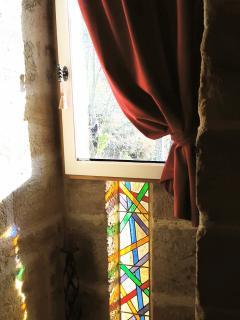 Fenêtre à meneaux dans la  Tour