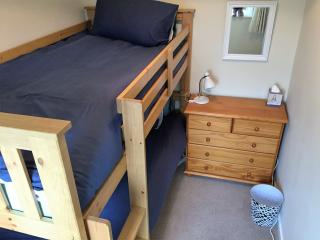 Bedroom 2 with bunks with adult mattress