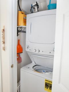 Washer dryer and ironing board