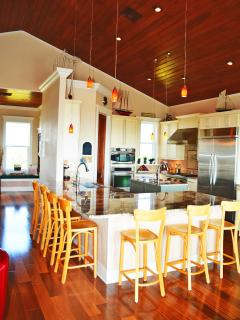 Vaulted Wood Ceiling over Kitchen