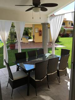 dining area and barbecue area