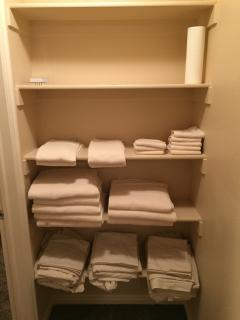 Plenty of Towels and Linens