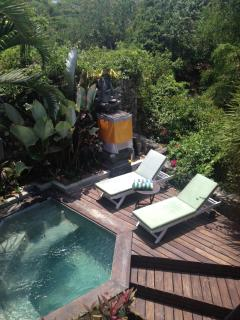 Plunge pool viewed from balcony