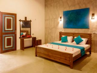 Luxury hotel rooms at country side with infinity swimming pool.