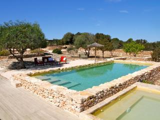 Villa con piscina, vista laguna e Ibiza, 10 pax, La Savina