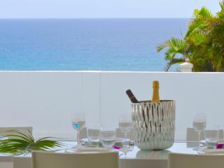 Magnifique vue panoramique sur la mer depuis la terrasse de la villa