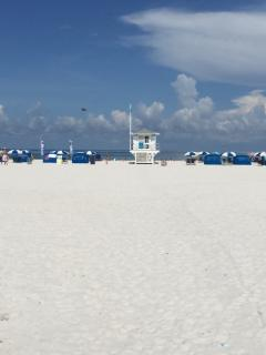 The white sands of Clearwater Beach.