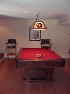 picture of the pool table in the family room downstairs