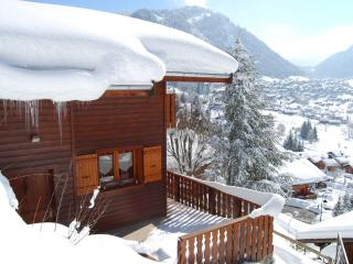 Nice chalet with superb views near centre & lifts