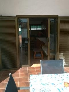 Patio doors on to the sun terrace