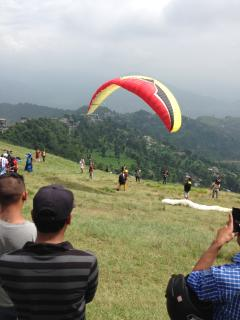 Paragliding from Sarangkot, just up from our place.