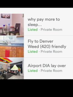 Denver International Airport lay over 420 & smoke