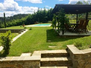 Beautiful garden and pool. Enjoy al fresco dining in the shade and at night the area is lit