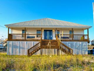 Great Gulf views, and a boat dock, too!  3 Bedroom Home on Boat Canal with Gulf view, Dauphin Island