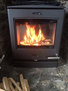 The lovely new woodburner