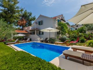 Large family villa with swimming pool surrounded with mediterranean garden