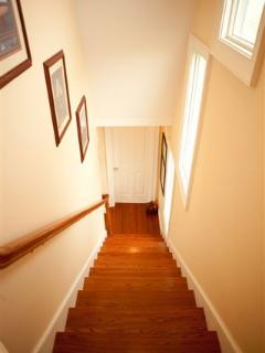 Staircase to Top Floor and Bedroom Suites