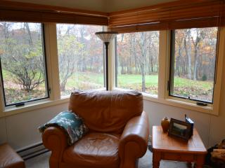 View of fairway from great room--fireplace is to the right