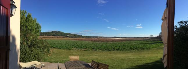 La campagne environnante vue depuis la terrasse