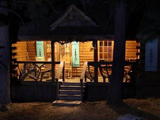 Unique log cabin w/resort amenities & private patio, pets OK, Truckee