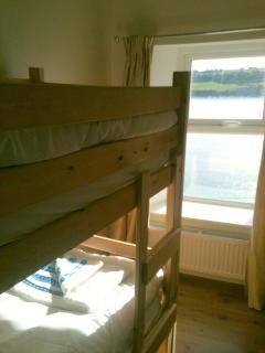 Small bunk bedroom, top floor, sea views. Perfect for Kids