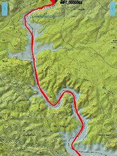 ruta en kayak hasta el nacimiento del embalse (los cachones)