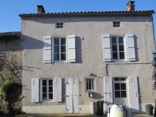 Suntrap garden in village in lovely countryside, Mezieres-sur-Issoire