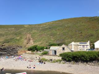Beautiful barn on the beach at Crackington Haven