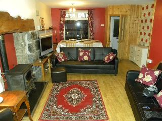 Lounge and dining area from the kitchen