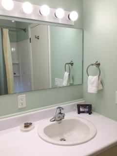 Master ensuite is clean, bright - and simply perfect.