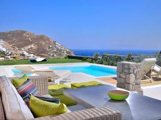 Villa Castalia above the beach with amazing sea view & private swimming pool!