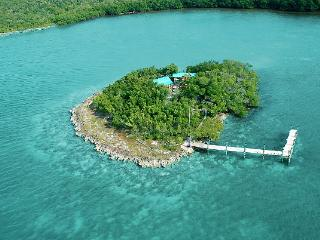 Rent the home on shore and get a boat and the island with houseboat also!